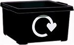 Black recycling box