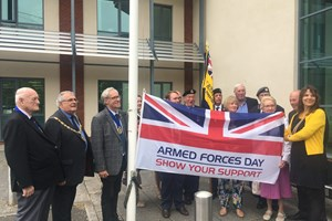 Flag Raised for Armed Forces Day
