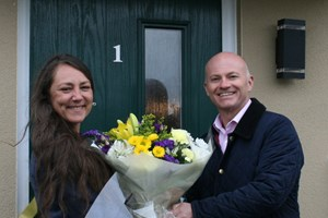 Residents move in to Council's new social housing homes in Burlescombe