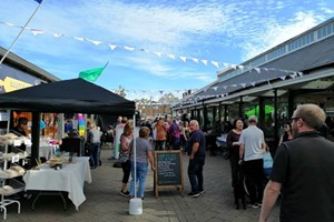 Join the Pirate Party at Tiverton's 'Electric Nights' street food market this Saturday
