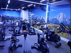 Image of the new indoor cycle studio whilst not in use