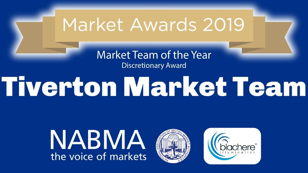 Graphic of the NABMA Market Award 2019 for the Tiverton Market Team