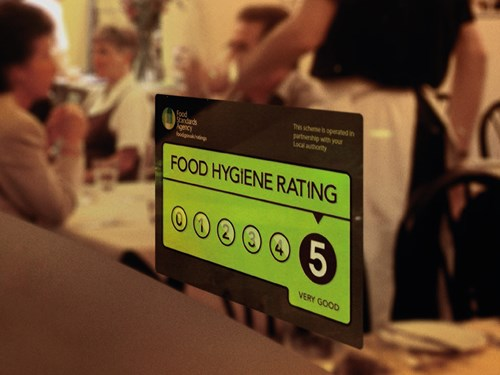 Image of a food hygiene rating sticker