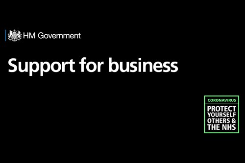 HM Government Support for business graphic