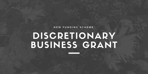 New Discretionary Business Grant graphic
