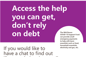 Access the help you can get, don't rely on debt