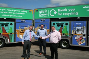 Council's recycling fleet gets a 'green' upgrade