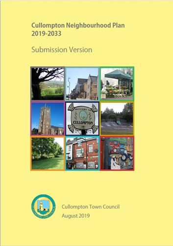 Image of the Cullompton Neighbourhood Plan front cover