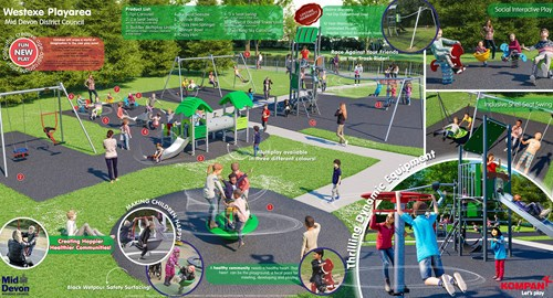 Artist's impression of the new Westexe Play Area