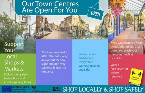 Our Town Centres Are Open For You. Support your local shops and markets
