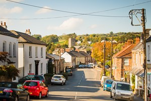 Bampton – a bustling town which has opened safely to visitors this Summer