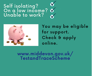 Poster of piggy bank promoting grant scheme