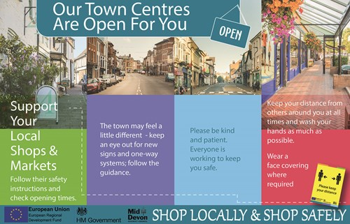 Support your local shops and markets advert