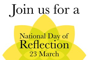 Join us for a National Day of Reflection 23 March logo